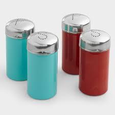 salt and pepper shakers. Stainless Steel Salt And Pepper Shakers, Set Of 2 Shakers N