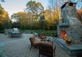 custom outdoor fireplace granite veneer
