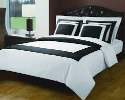 white and black bed sheets. Wonderful And Amazoncom White And Black Hotel 5piece King  Calking Comforter Cover  DuvetCoverSet 100  Cotton 300 TC Home U0026 Kitchen For And Bed Sheets T