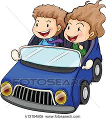 riding in car clipart. Plain Car Clipart  A Boy And A Girl Riding Car Fotosearch Search Clip Art In Riding Car