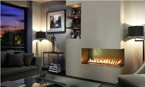 efb1200 bio ethanol fire with patinated gold interior panels