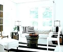 black and white striped rug area modern 8x10 whit