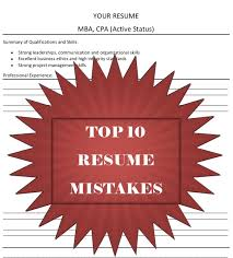 Top 10 Resume Mistakes, from a Recruiter's Perspective!