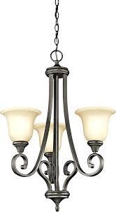 mini hanging chandelier bronze led