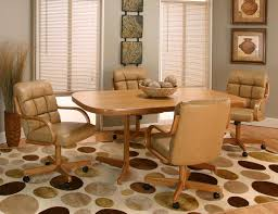 dining room chairs with wheels createfullcircle regarding kitchen table chairs with wheels pertaining to residence