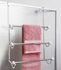 Folded hanging towel Shower Towels Use Your Doors Apartment Therapy Ideas For Hanging Storing Towels In Small Bathroom Apartment