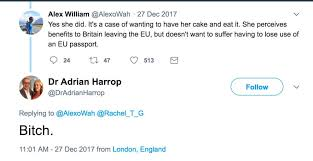 Image result for adrian harrop misogynist tweets