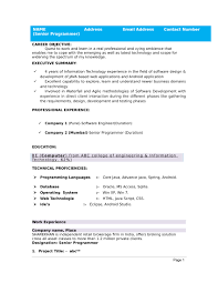 Resume Template Software 32 Resume Templates For Freshers Download Free Word Format