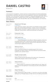 Department Manager Resume Career Resumes
