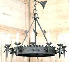 round iron chandelier