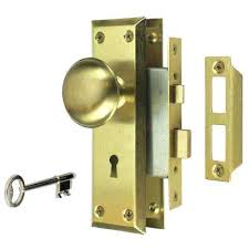 garage door lock home depot. Yellow Door Hardware The Home Depot Satin Brass Knob Mortise Lock Set Garage