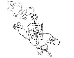 Disegno Di Spongebob La Invincibolla Per Lattacco Da Colorare