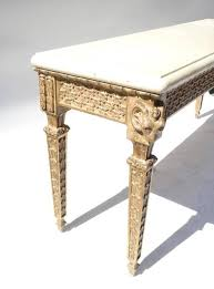 L 20th Century Coral Stone Hall Table For Sale