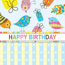 birthday postcard template template birthday greeting card stock vector colourbox