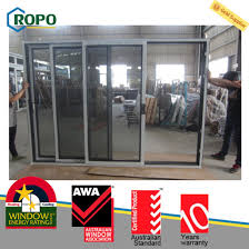 upvc pvc three track sliding door laminated wood color pictures photos