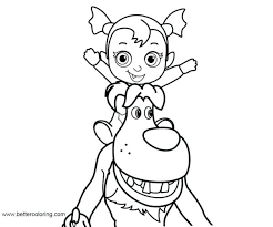 Vampirina Coloring Pages 126 Download This Coloring Page Formidable