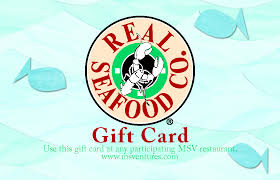 real seafood pany gift card