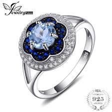 2019 <b>Jewelrypalace</b> Spark Flower <b>1ct Genuine</b> Sky <b>Blue</b> Topaz ...