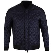 ARMANI JEANS Armani Jeans Navy Quilted Bomber Jacket - Men from ... & ARMANI JEANS Navy Quilted Bomber Jacket Adamdwight.com