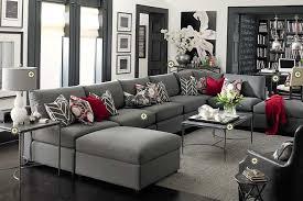 Bassett Furniture Gray Living Room White Walls Dark Grey Velvet