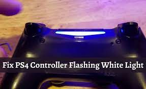 fix ps4 controller flashing white light