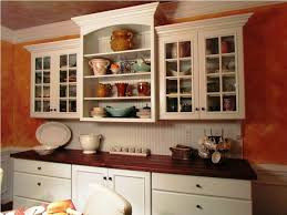 White Stained Oak Wood Wall Mounted Kitchen Cabinet With Utility