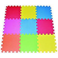 floor mats for kids.  Floor POCO DIVO 9tile Multicolor Exercise Mat Solid Foam EVA Playmat Kids Safety In Floor Mats For A