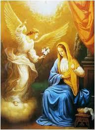 Resultado de imagen de gabriel y virgen maria