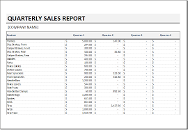 sales report example excel quarterly sales report template for excel excel templates
