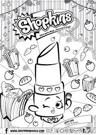 Small Picture Shopkins Colour Color Page Lippy Lips ShopkinsWorld Shopkins