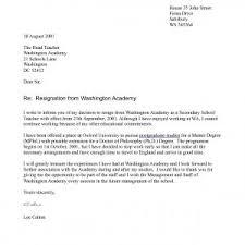 Resignation Letter Sample For Teacher Post Archives