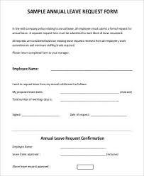Leave Request Form Sample Enchanting 48 Leave Letter Formats Sample Templates