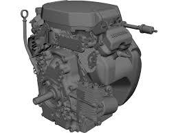 honda gx690 engine 3d cad model 3d