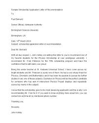 Scholarship Recommendation Letter Sample 50 Amazing Recommendation Letters For Student From Teacher