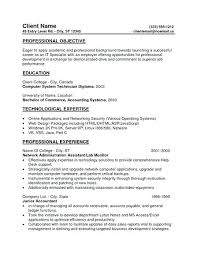 Resume Objective Examples Entry Level Paknts Com