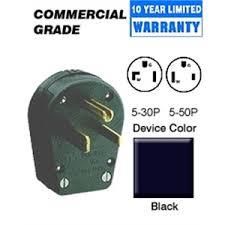 leviton 930 30 50 amp angle plug 125v 5 30p 5 50p grounding leviton 930 30 50 amp angle plug 125v 5 30p 5
