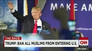 「トランプのイスラム批判」の画像検索結果