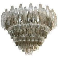 murano mid century modern style poliedri glass chandelier