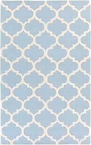 blue and white trellis rug pollack light blue white geometric trellis rug by artistic w super