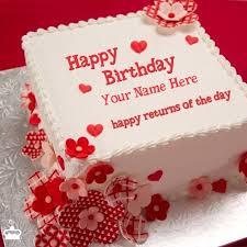 Happy Returns Birthday Cake With Name