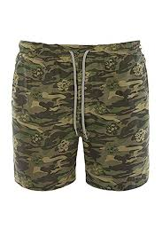 Mens Swimming Shorts Brave Soul Camouflage Trunks Army ...