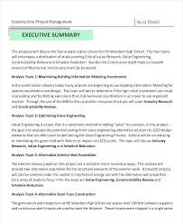 Business Proposal Executive Summary Template Example Of A