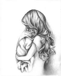 Tender Moment Mother Holding Child Art Print By Kindredartstudio