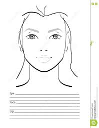 Blank Face Chart Face Chart Makeup Artist Blank Stock Illustration