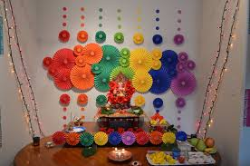 home decor amazing decoration for ganesh festival at home design