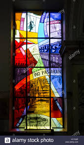 Window in spanish Arched The Spanish Civil War Memorial Stained Glass Window City Hall Belfast County Antrim Northern Ireland Uk Alibaba The Spanish Civil War Memorial Stained Glass Window City Hall Stock