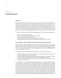Quality Of Work Example Chapter Four Case Examples Pavement Management Systems Putting