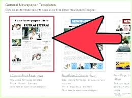 Three Column Newsletter Template Create My Own Newspaper Template Arianet Co