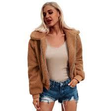 plus size 3xl winter warm faux fur coat womens jacket female lamb wool coat pink overcoat
