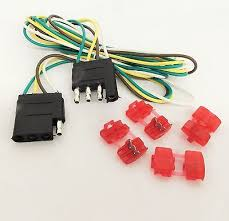 universal molded trailer light plug wiring harness 7 way rv 4 trailer light wire harness 4 way wire flat connector trailer light extension 48